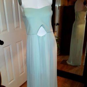 BCBGenaration gown strapless chiffon dress sz 12